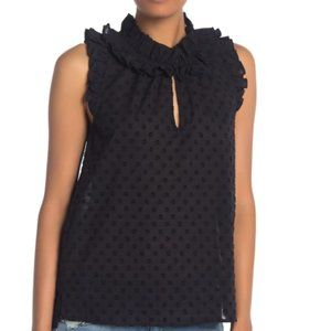 J. Crew Parquet Swiss Dot Ruffle Top